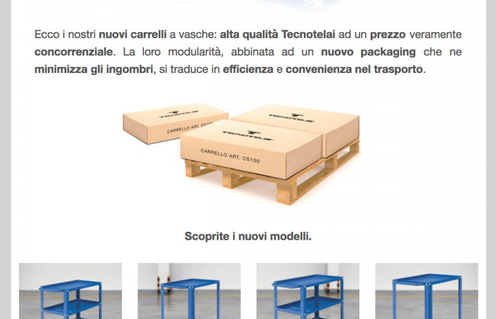 NEW TROLLEYS WITH TRAYS TECNOTELAI