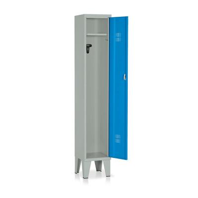 Locker 1 compartment mm. 315Lx330Dx1800H. Grey/blue.