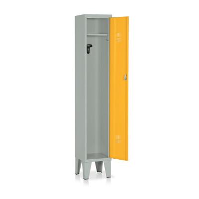 Locker 1 compartment mm. 315Lx330Dx1800H. Grey/yellow.
