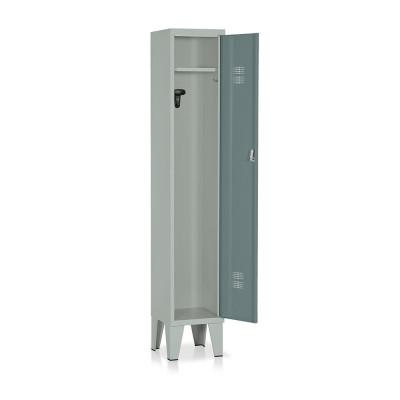 Locker 1 compartment mm. 315Lx330Dx1800H. Grey/dark green.
