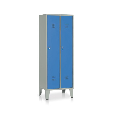 E512GB Locker 2 compartments mm. 610Lx500Dx1800H. Grey/blue.