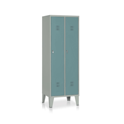 E512GVS Locker 2 compartments mm. 610Lx500Dx1800H. Grey/dark green.
