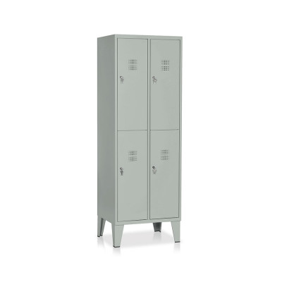 Locker 4 compartments mm. 610Lx500Dx1800H. Grey.