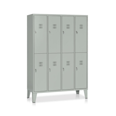 Locker 8 compartments mm. 1200Lx500Dx1800H. Grey.