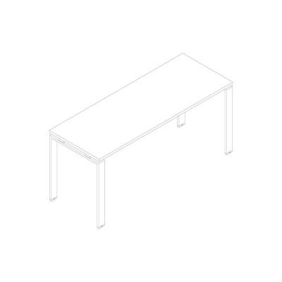 Tavolo di servizio in melaminico con gambe a U. Dimensioni: 1400Lx600Px745H mm.